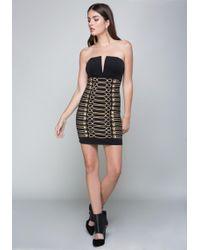 Bebe - Soutache & Button Dress - Lyst