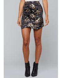 Bebe - Brocade Miniskirt - Lyst