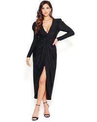 Bebe Slinky Jersey Gown - Black