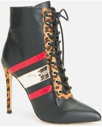 Bebe Design Stiletto Ankle Boots - Black