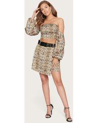 Bebe Print Belted Miniskirt - Multicolour