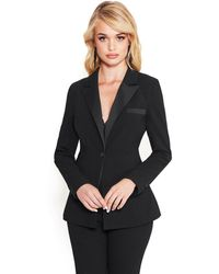 Bebe - Tara Crepe Suiting Jacket - Lyst