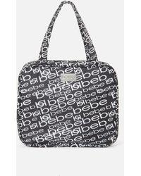 Bebe Black And Silver Cosmetic Bag - Metallic
