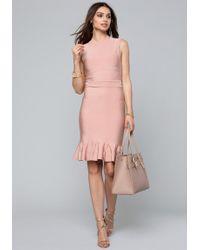 Bebe - Fit & Flare Pointelle Dress - Lyst