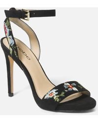 Bebe Ingram Embroidery Heels Shoe - Black