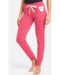 Bebe Heart Lounge Pant - Pink
