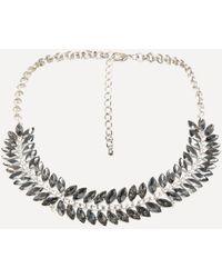 Bebe - Crystal Collar Necklace - Lyst