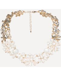 Bebe - Floral Statement Necklace - Lyst