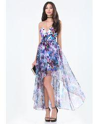 Bebe Strapless Hi-lo Dress - Blue