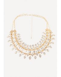 Bebe - Crystal Layered Necklace - Lyst