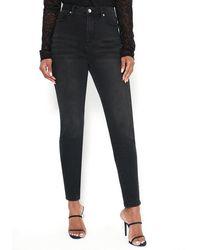 Bebe High Waist Skinny Jeans - Black