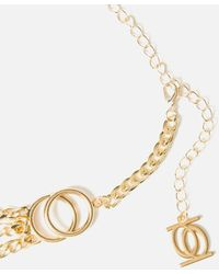 Bebe Gold-tone Layered Chain Belt - Metallic