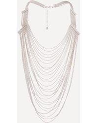 Bebe - Draped Shot Bead Necklace - Lyst
