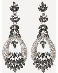 Bebe - Crystal Chandelier Earrings - Lyst
