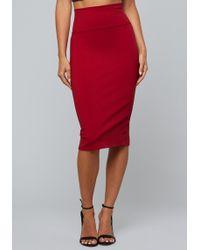 Bebe - Jersey Midi Skirt - Lyst