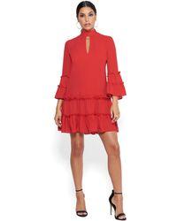 Bebe - Ruffled Day Dress - Lyst