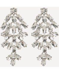 Bebe - Crystal Cluster Earrings - Lyst