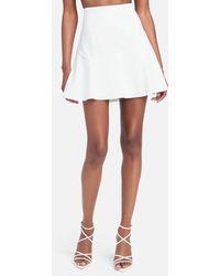 Bebe Fit & Flare Skirt - White
