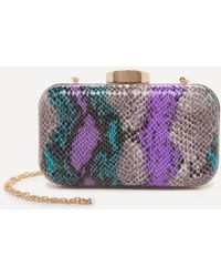 Bebe - Theda Faux Snake Minaudiere - Lyst