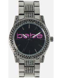 Bebe Crystal Bezel & Link Bracelete Logo Watch - Multicolour