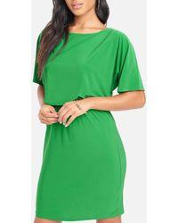 Bebe Dolman Sleeve Dress - Green