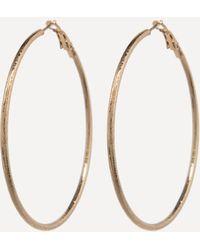 Bebe - Fine Textured Hoop Earrings - Lyst