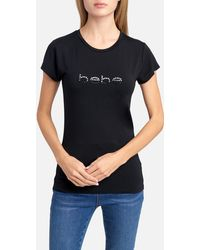 Bebe - Logo Ombre Rhinestone Tee Shirt - Lyst