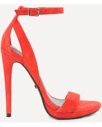 Bebe - Selina Faux Suede Sandals - Lyst