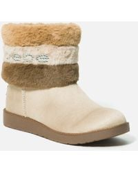 Bebe Laverne Faux Suede Winter Boot - Natural