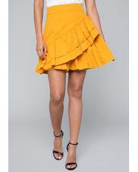 Bebe - Ruffle Tiered Skirt - Lyst