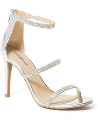 Bebe Janae Strappy Heels Shoe - Metallic