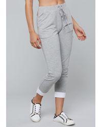 Bebe - Logo Poplin Mix Pants - Lyst