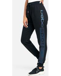 Bebe Sport Logo Stripe Jogger Pant - Black