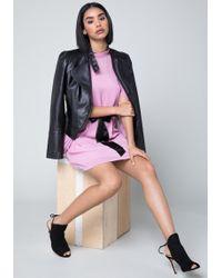 Bebe - Faux Leather Moto Jacket - Lyst
