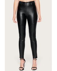 Bebe - Seamed Faux Leather Pants - Lyst