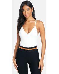 Bebe 3 Pack Skinny Belts - White