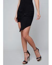 Bebe - Shay Ribbed Twist Skirt - Lyst