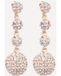 Bebe - Crystal Ball Earrings - Lyst