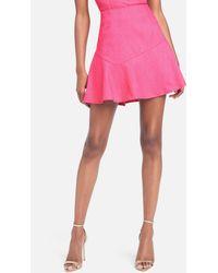 Bebe Fit & Flare Skirt - Pink
