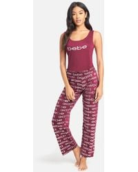 Bebe Allover Pant Set - Red