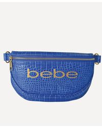 Bebe Josephine Croco Convertible Sling - Blue
