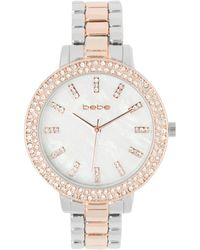 Bebe Mixed Metal Watch - Metallic
