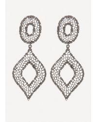 Bebe - Filigree Statement Earrings - Lyst