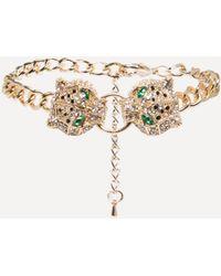 Bebe - Leopard Chain Bracelet - Lyst