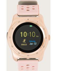 Bebe Silicon Bracelet Smart Watch - Pink