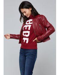 Bebe - Puff Sleeve Jacket - Lyst