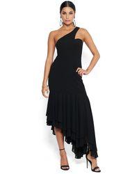 Bebe One Shoulder Gown - Black