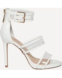 Bebe - Auhdrey Clear Strap Sandals - Lyst