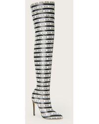 Bebe Distinct Logo Stripe Boots - Black