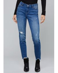Bebe - Frayed Heartbreaker Jeans - Lyst